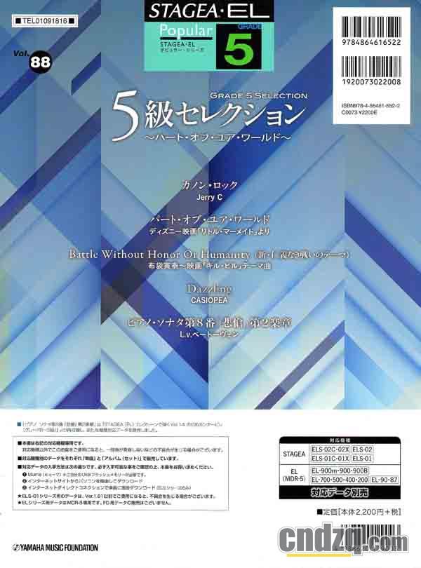l.88 摇滚卡农 Canon Rock 双排键乐谱与音色分享 中国电子琴在线论