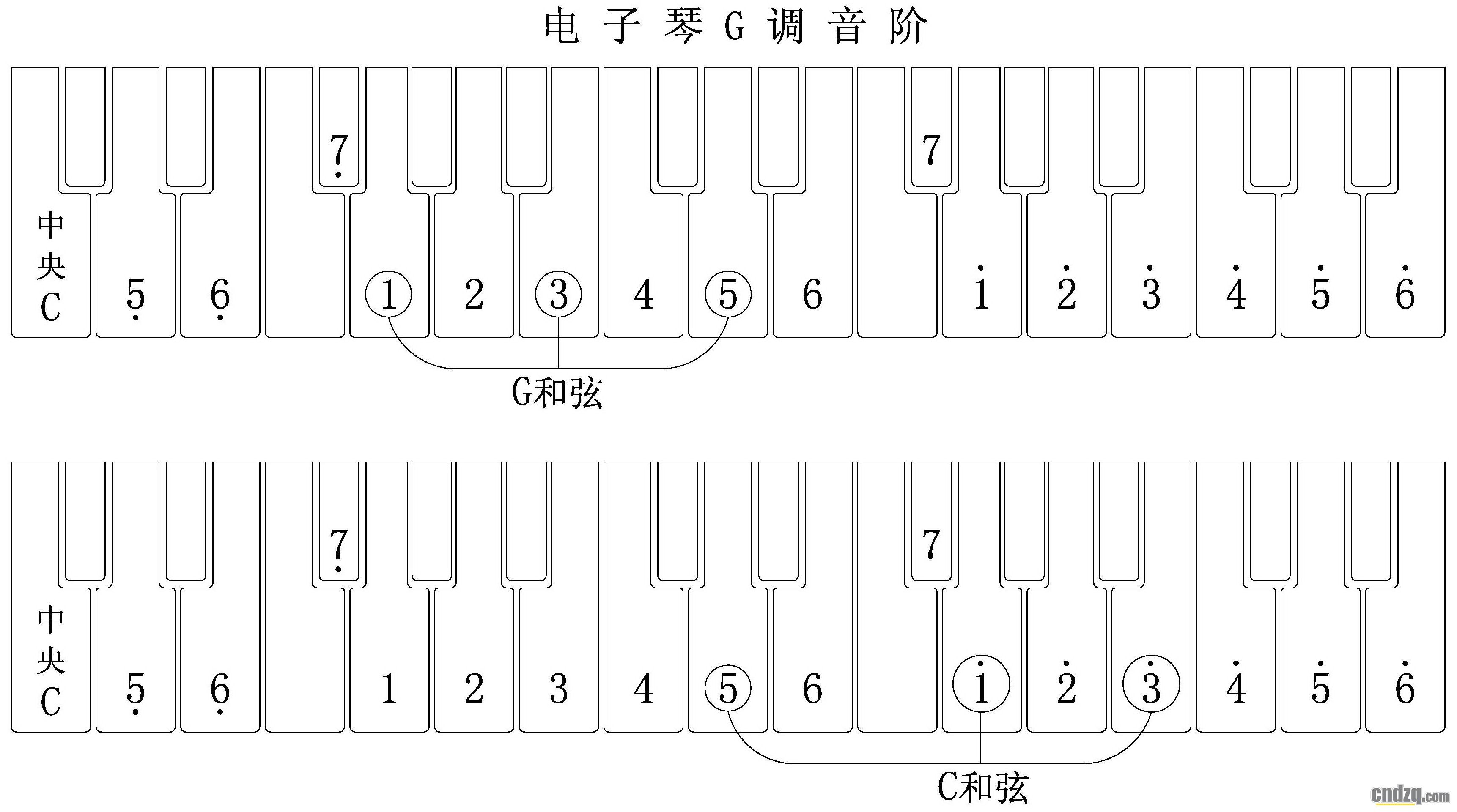 电子琴g调音阶.jpg图片