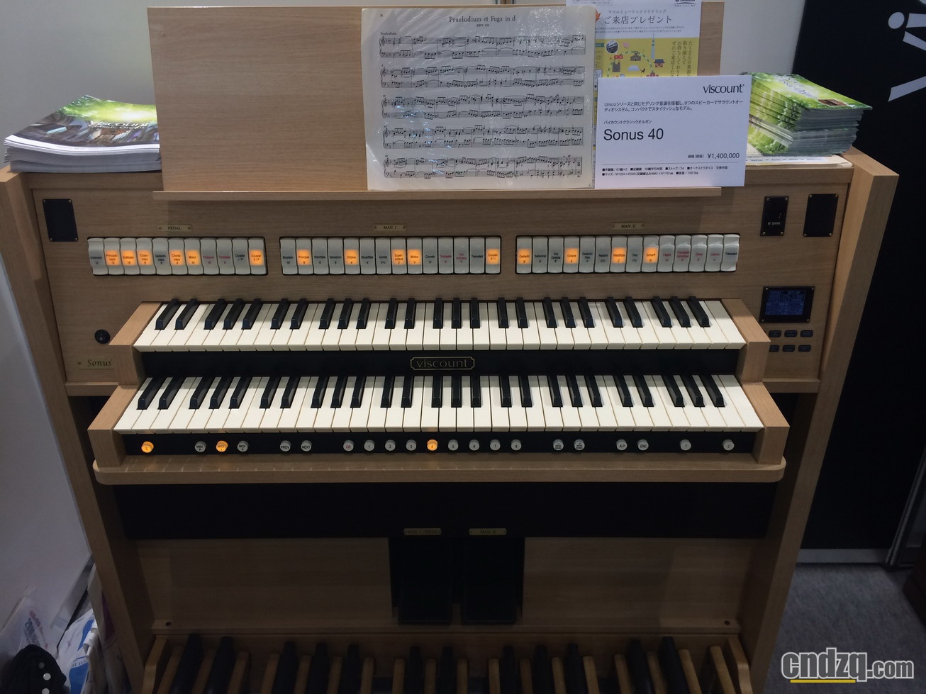 双排键/电子管风琴产品报道:elc-02实物展出
