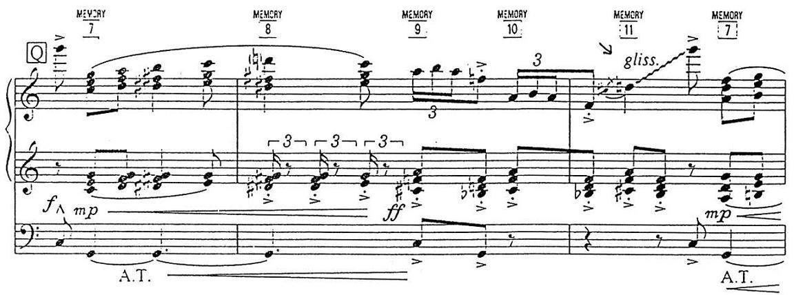 以第三指向下弹出,滑音下行时则使用大拇指的指背在琴键上滑行.图片
