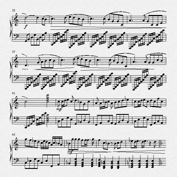 两只老虎钢琴曲谱单手-钢琴谱 挥着翅膀的女孩