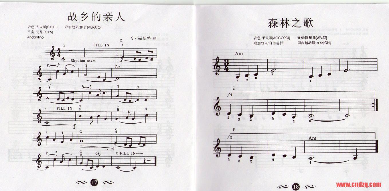 关瑞红的电子琴入门教程乐谱-单排键乐谱与教程区-琴图片