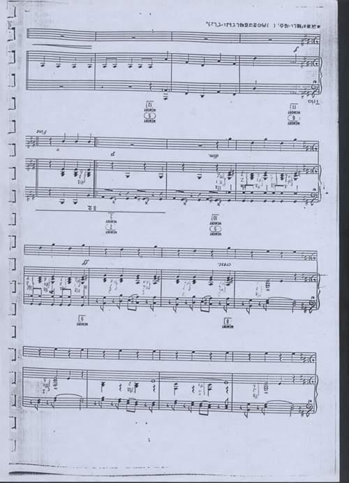 虫儿飞双声部歌谱-双排乐谱 拉德斯基进行曲